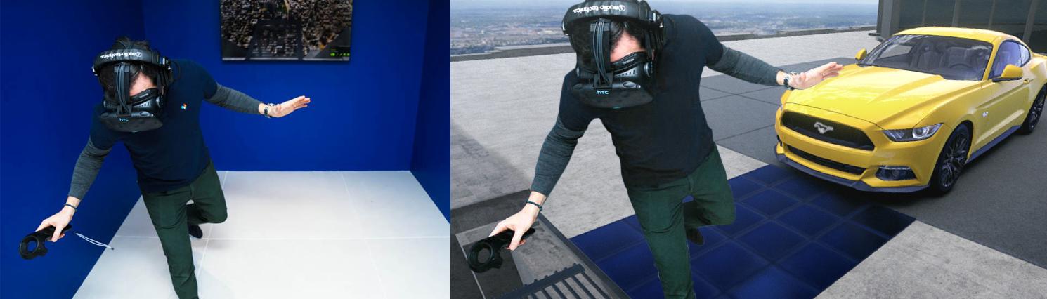 Besucher des FordHub werden virtuell auf das Empire State Building versetzt.