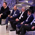 Die Juroren des Münchner Digital Innovation Award 2017 von links: Daniel Wild (CEO Ecommerce Alliance), Rupert Schäfer (Geschäftsführer The Nunatak Group), Michael Zaddach (CIO Flughafen München), Dr. Ralf Schneider (CIO Allianz SE) und Dr. Lothar Borrmann (Technologie-Leiter Siemens AG)