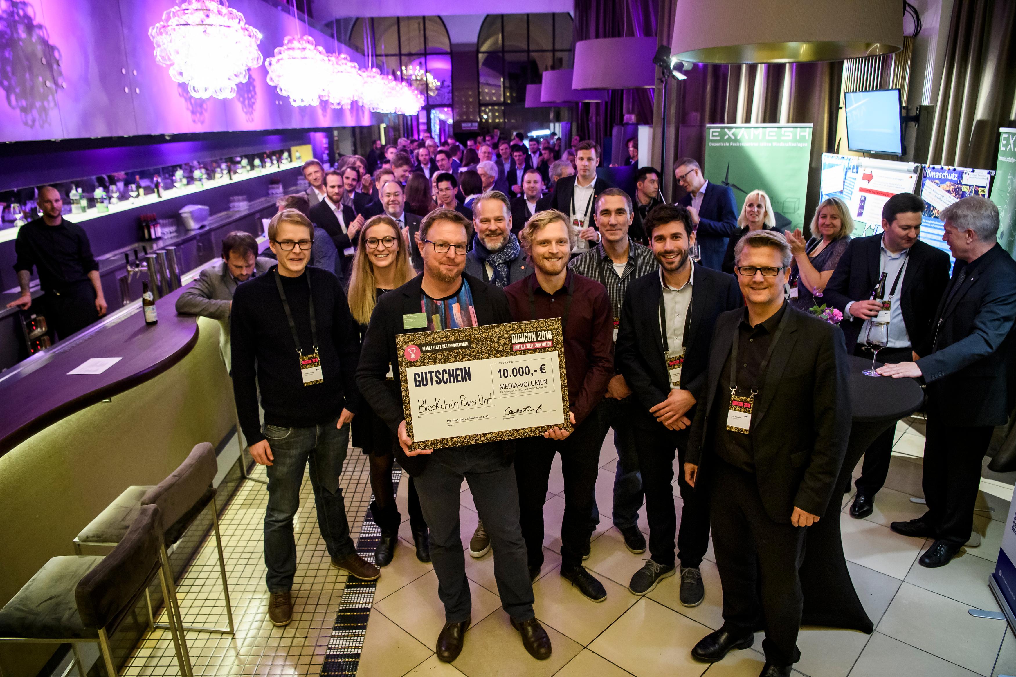 Die Gewinner des Marketplace Awards der DIGICON 2019 - Blockchain Power Unit